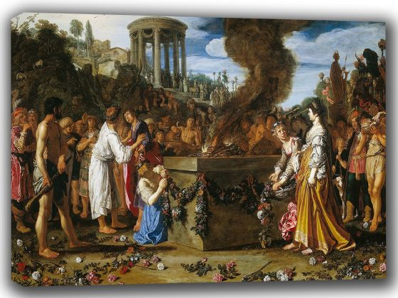 Lastman, Pieter: Orestes and Pylades Disputing at the Altar. Fine Art Canvas. Sizes: A4/A3/A2/A1 (002140)